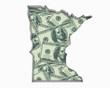 Minnesota MN Money Map Cash Economy Dollars 3d Illustration