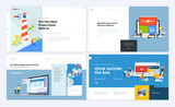 Set of creative website template designs. Vector illustration concepts for website and mobile website design and development. Easy to edit and customize. - 200614200