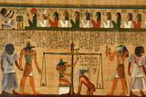 antico papiro egizio libro dei morti con divinita horos anubi  - 200614402
