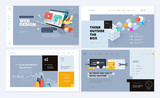 Set of creative website template designs. Vector illustration concepts for website and mobile website design and development. Easy to edit and customize.