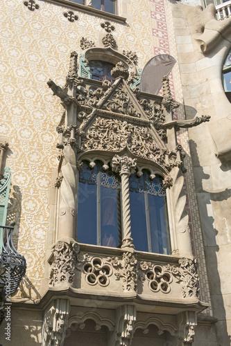 Aluminium Barcelona Detail of the Casa Ametller, a modernist building designed by Josep Puig i Cadafalch in Barcelona, Spain