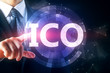 Man pointing at ICO button