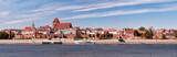 Panoramic view of the city. Torun, Poland. - 200639015