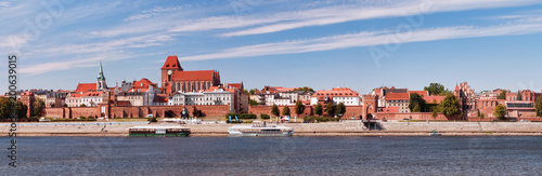 Panoramic view of the city. Torun, Poland.