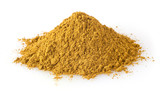 Heap of curry powder isolated on white background - 200640058