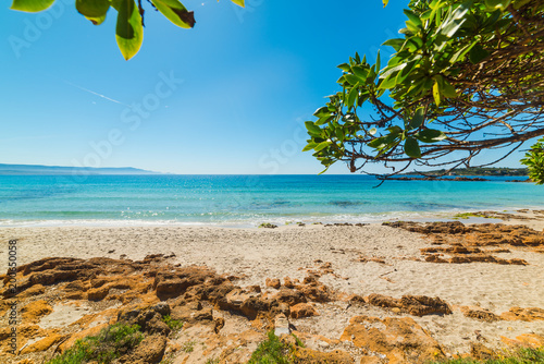 Blue sea in Le Bombarde beach in Alghero - 200650058