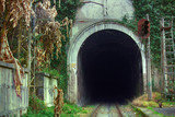Railway tunnel in the mountains - 200659072