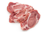 Meat pork slices isolated on the white background. - 200663846
