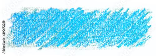 niebieski wosk ołówek, pastel tekstury. Rozkwit na papierze to prostokąt. na białym tle.