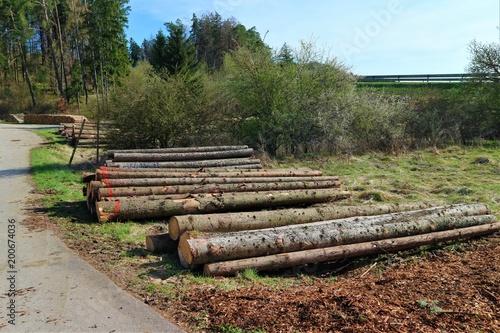 In de dag Spoorlijn Holzlager