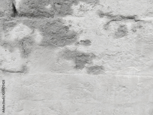 Empty wall of plaster. Grey Colour