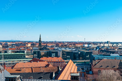 Foto op Aluminium Blauw Aerial view over city of Copenhagen