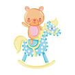 bear teddy ride rocking horse - 200682460