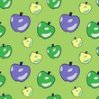 Funny Apple Cartoon Seamless Pattern - 200682803