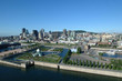 Montreal skyline, aerial view, harbor, Old Port
