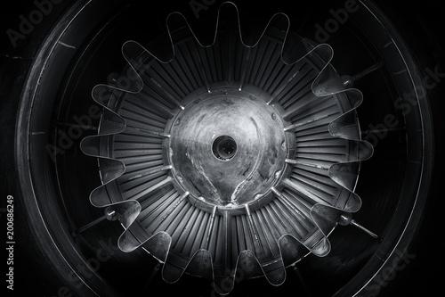 Silnik odrzutowy z bliska zdjęcie