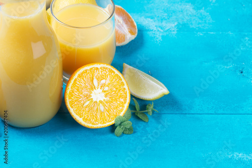 Fotobehang Sap Orange juice in glass