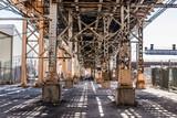 below a Bridge and truss work