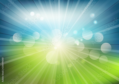 Summer landscape blur background