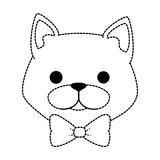 cute cat mascot head character vector illustration design