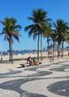 Quadro Geometric boardwalk in Copacabana Rio de Janeiro Brazil