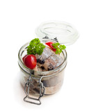 Pickled  herring isolated on white background - 200703236