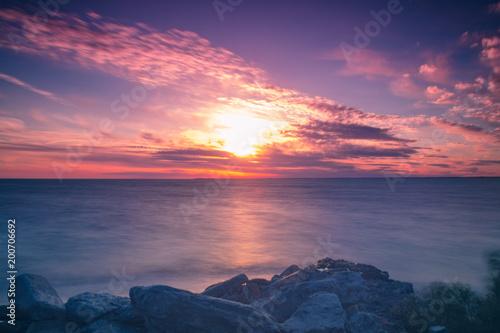 Fotobehang Zee zonsondergang Beach Sunset