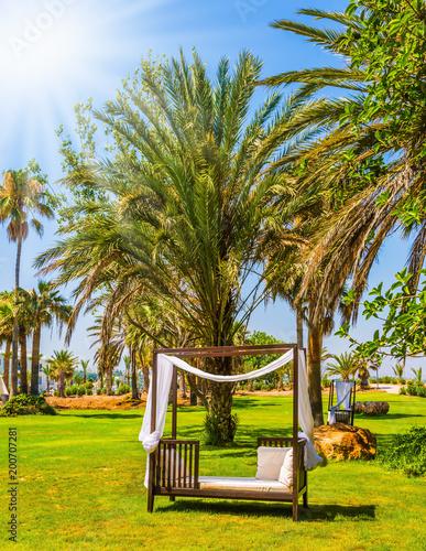Fotobehang Cyprus Seaside resort on a hot summer day