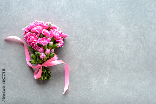 Spring flowers bouquet for wedding gift or mothers day card