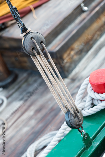 Foto op Plexiglas Schip Antique wooden boats at the harbor