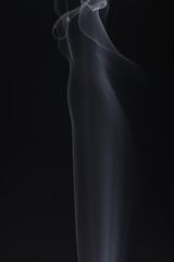 Beautiful Flowing Smoke on a Black Background