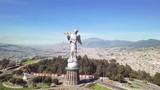 drone flight over Virgen of Panecillo Quito Ecuador - 200715877