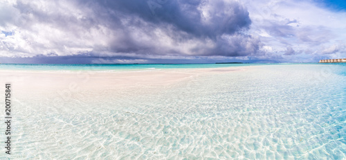 Keuken foto achterwand Tropical strand Tropical storm sea and clouds
