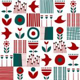 Folk art pattern in Scandinavian, Nordic style - 200716828
