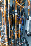 Internal arrangement of the industrial air conditioner. Many copper brazed tubes. - 200719812