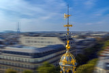 Aerial view in blur motion from the terrace of store Printemps, Paris - 200723232