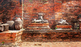 Buddha statues at temple of Wat Yai Chai Mongkol in Ayutthaya ,Thailand