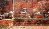 Buddha statues at temple of Wat Yai Chai Mongkol in Ayutthaya ,Thailand - 200726642