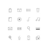 Office simple linear icons set. Outlined vector icons - 200731405