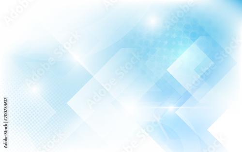 Streszczenie biały i miękki niebieski trójkąt kształt. Półtony nowoczesna sztuka jasny i futurystyczny koncepcja tło