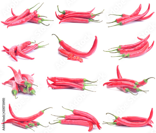 Plexiglas Hot chili peppers Chili pepper collection