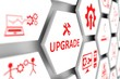 UPGRADE concept cell blurred background 3d illustration - 200742874