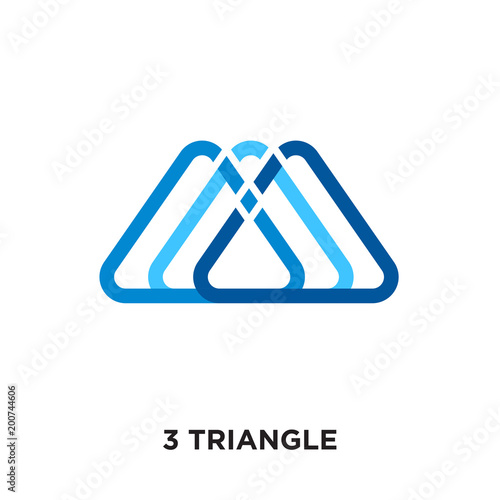 3 Triangle Logo Isolated On White Background For Your Web Mobile