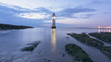 Perch Rock Lighthouse sunset - New Brighton Wirral UK