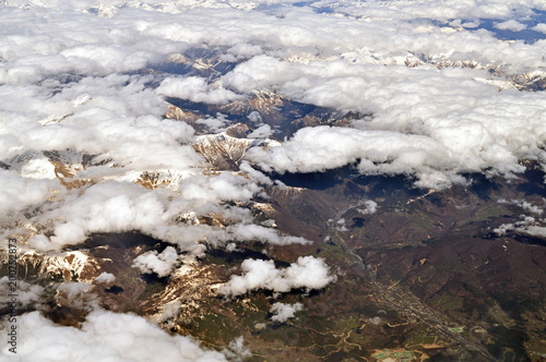 Caucasus Mountains from above - 200752873