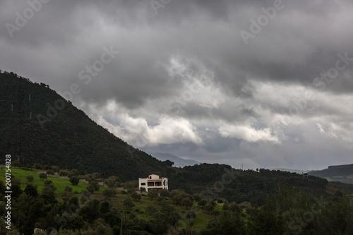 Foto op Plexiglas Zwart Landscape