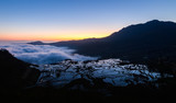 Yuanyang rice terrace at sunrise, Yunnan province, China