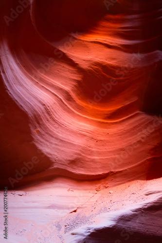 Fotobehang Rood traf. Antelope canyon