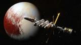 spaceship in orbit of dwarf planet Pluto - 200777846
