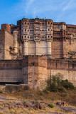 Mehrangarh fort in Jodhpur, Rajasthan, India.